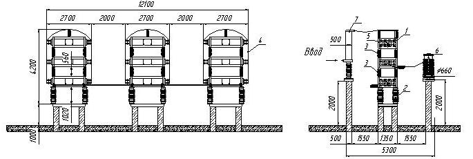 Высоковольтный конденсатор, 2.